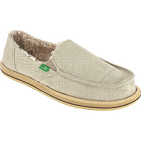 Skateboard On Sale. Free Shipping. Sanuk Women's Vagabond Chill Shoe DECENT FEATURES of the Sanuk Women's Vagabond Chill Shoe Handmade Canvas Upper Vegan and Vegetarian Happy U Outsole Faux Shearling Chill Liner High Rebound, Molded EVA Footbed AEGIS Antimicrobial Additive - $29.99