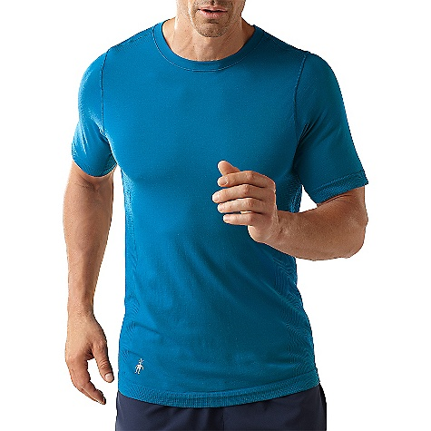 Fitness Free Shipping. Smartwool Men's PhD Run SS Top DECENT FEATURES of the Smartwool Men's PhD Run Short Sleeve Top Semi-Form Fit UPF 40 Seamless construction for ultimate comfort Strategically designed sleeves remove underam seams to eliminate chafing Lighterweight knit texture in high heat zones for increased ventilation Flatlock seam construction throughout 360deg reflectivity; Reflective SmartWool Logo at wearer's right hem The SPECS Garment Weight: 5.11 oz / 145 g 79% Merino Wool, 21% Nylon - $84.95