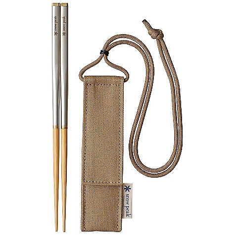 Snow Peak Carry-On Chopsticks The SPECS Weight: 1.0 oz Length: 8 1/2in. Recycled white ash wood Stainless steel - $29.95