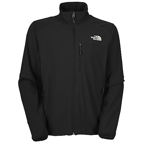On Sale. Free Shipping. The North Face Men's Nimble Jacket DECENT FEATURES of The North Face Men's Nimble Jacket Standard fit TNF Apex Aerobic fabric wind permeability rated at 10-15 CFM Napoleon chest pocket Two hand pockets Elastic-bound cuffs Hem cinch-cord The SPECS Source: Imported Average Weight: 16.57 oz / 469.75 g Center Back: 28in. Fabric: 90D 246 g/m2 (7.3 oz/yd2) 90% polyester, 10% elastane plain weave four-way stretch TNF Apex Aerobic with DWR This product can only be shipped within the United States. Please don't hate us. - $49.99