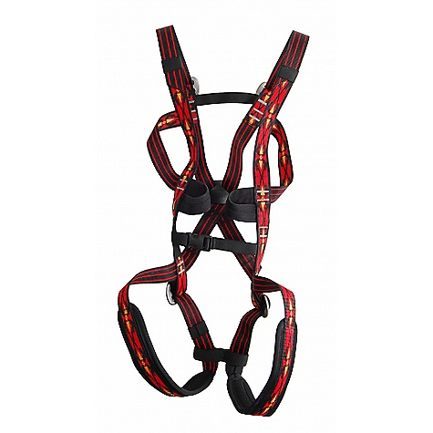 Climbing Free Shipping. Trango Kids' Junior Harness FEATURES of the Junior Climbing Harness by Trango Full body climbing harness designed to support the body of yound kids Padded leg loops Two gear loops Fully adjustable Safe for kids weighing anywhere from 25 to 80 pounds Safe and comfortable SPECIFICATIONS: Sizes: OFSAK 25 - 80 lbs CE Approved Weight: 10.5oz / 300g ALL CLIMBING SALES ARE FINAL. - $54.95