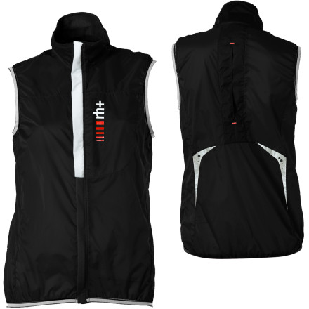 Fitness When a quick shower joins your ride, pull out the Zero RH + Women's Aquaria Pocket Vest Jacket to keep your core warm and dry.Locking half-length zip provides temperature regulation Reflective elements for low-light safety Jacket fits in its own stuff pocket Long back protects from road spray - $30.72