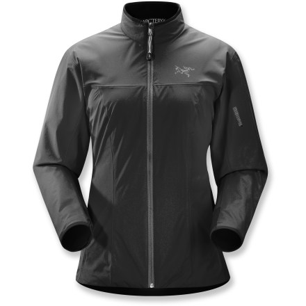 The Arc'teryx Solano jacket is a lightweight, windproof shell built for aerobic activities out in the elements. - $138.73