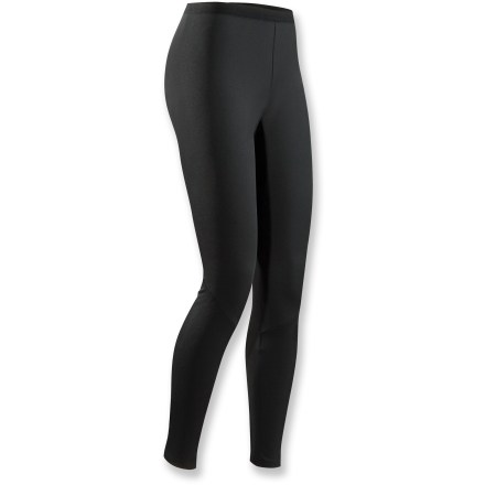 Made for stop-and-go activities in cooler weather, the quick-drying Arc'teryx Phase AR long-underwear bottoms for women offer solid midweight insulation. Specially designed fabric wicks moisture and keeps you cool during high-output activity; when you're resting, the fabric dries quickly and helps regulate temperature. Fabric is inherently stretchy without the use of spandex, making it more durable. Anatomical shaping and a gusseted crotch ensure freedom of movement. Fabric is specially treated to keep unpleasant odors in check. Closeout. - $28.73