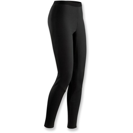 The women's Arc'teryx Phase SV long-underwear bottoms are the warmest of Arc'teryx base layers made for stop-and-go activities in cold conditions. Specially designed fabric wicks moisture and keeps you cool during high-output activity; when you're resting, the fabric dries quickly and helps regulate temperature. Fabric is specially treated to keep unpleasant odors in check. Anatomical shaping and a gusseted crotch ensure freedom of movement. Closeout. - $31.73
