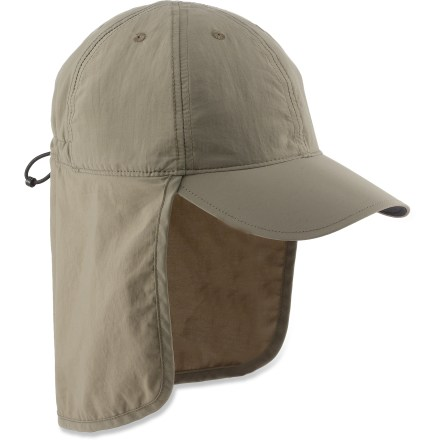 Don't let the harsh sun stop you from having fun. The Columbia Schooner Bank(TM) Cachalot III hat provides UPF protection and has a cape to shade your neck. - $13.83