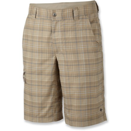 Camp and Hike For adventures on trail or across town, the Columbia Cool Creek(TM) Stretch Plaid shorts aim to please. - $26.83