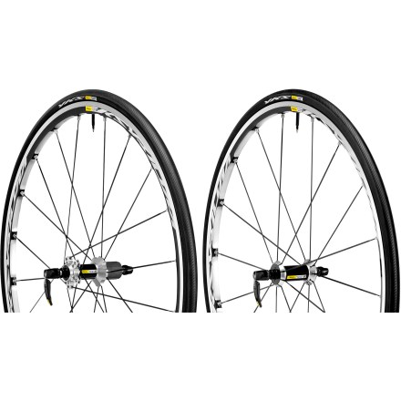 Fitness The lightweight, stiff and responsive Mavic Ksyrium Elite S wheelset comes equipped with tires for a complete, convenient wheel system that's ready to roll right out of the box. - $399.83
