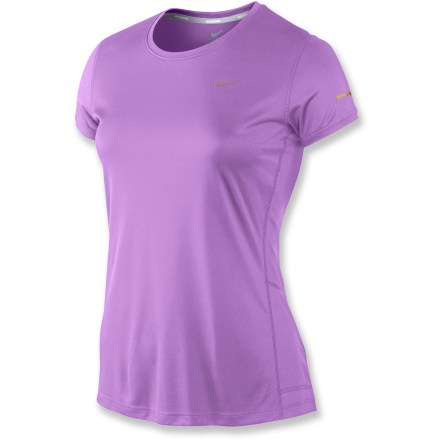 Fitness The Nike Miler Soft Hand T-shirt supplies a soft touch and cooling fabric as the miles roll by. Dri-FIT(R) fabric delivers high-tech moisture management to keep you cool and dry, and feels soft and comfortable against your skin. The Nike Miler Soft Hand T-shirt offers a standard fit. - $25.93