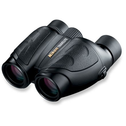 Camp and Hike The Nikon Travelite VI 12 x 25 binoculars pack a lot of power into a little package. They weigh under 10 oz. and offer sharp imagery with minimal distortion. - $133.00
