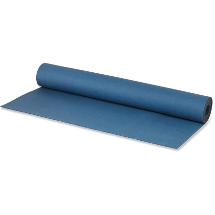 Fitness The prAna Revolution Natural Sticky Yoga mat gives you plenty of space to stretch out on. - $62.93