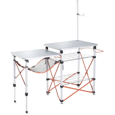 Camp and Hike With dedicated spots for all your cooking supplies, this camp kitchen keeps you organized so you can spend less time searching for a spatula and more time hiking, biking and relaxing with friends. - $99.50