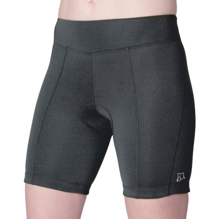 Fitness The SkirtSports Free Ride bike shorts are designed for the stretch comfort and breathability you need for all rides from a quick commute to an epic race. 10-panel shorts have 4-way stretch fabric to deliver muscle compression and support. Nylon/spandex blend stretches with you, feels soft against your skin and efficiently wicks moisture to keep you cool. Women-specific chamois adds comfort to the ride with plush, seamless padding technology. Wide stretch fabric in front waistband panel keeps you comfortable while tucked over in aero position. Side mesh panels feature a pocket on the thighs to provide small storage for gels, snacks and your portable media player. Wide elastic in back waist ensures a comfortable, stable fit; elastic hems feature silicone grippers to keep shorts in place. The SkirtSports Free Ride bike shorts have reflective accents to help you stay visible in low light. - $58.93