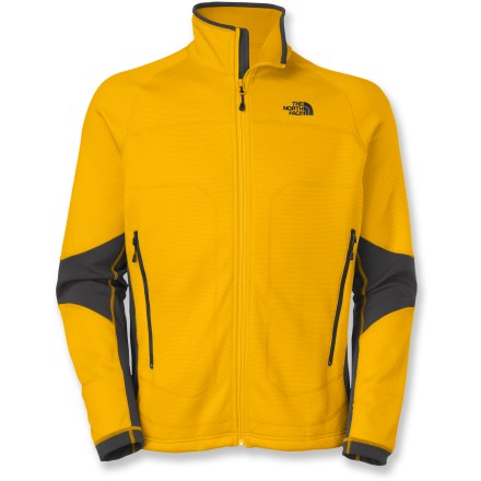 Entertainment Perfect for cold weather activities, The North Face Stealth Byron full-zip jacket is a solid midweight fleece jacket than can be worn on its own or layered under a shell when the temps really drop. Stretch pique fleece shell provides great cold-weather protection; microfleece lining adds warmth and extra comfort against your skin. Stretch panels along sides and elbows let you reach and stretch without being restricted. Fabric provides UPF 50+ sun protection, shielding skin from harmful ultraviolet rays. The North Face Stealth Byron full-zip jacket has zippered handwarmer pockets. Drawcord hem seals out the wind and snow. Closeout. - $68.73