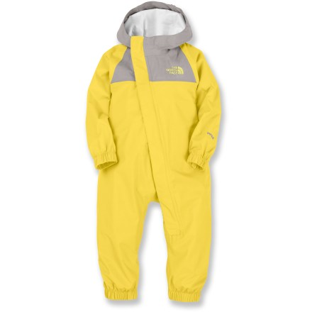 Keep your little one sheltered from the elements in the Resolve Rain Suit from The North Face. Reliable waterproof material provides big time protection for the littlest adventurers. Ripstop nylon is waterproof, breathable and seam sealed for total coverage. Polyester mesh lining promotes breathability and doesn't irritate skin. Elasticized leg and cuff openings create a snug fit; rip-and-stick cuff adjustors allows for customization. Interior ID tag means the Resolve Rain Suit never gets lost in the crowd. - $51.93