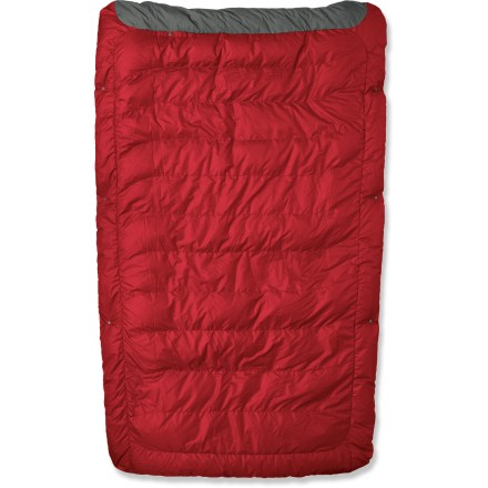 Camp and Hike The Therm-a-Rest Ventra down comforter is great for hostel-hopping and road trips. Storage is a snap - when you're not out and about, just throw it on your bed at home. Insulated with quality 650-fill-power goose down for warmth, light weight and compressibility; durable polyester shell fabric resists moisture and abrasion. Versatile Ventra down comforter can be used on its own or attached to a Therm-a-Rest sheet and sleeping pad to form a sleep system (sheet and sleeping pad not included). Compatible with Therm-a-Rest Fitted Sheet - Medium - 2011 Closeout (sold separately - limited supply). Also compatible with Therm-a-Rest Universal sheets made in 2012 and after (not included). Dimensions: 48 x 76 in. / 122 x 193cm. Closeout. - $149.73