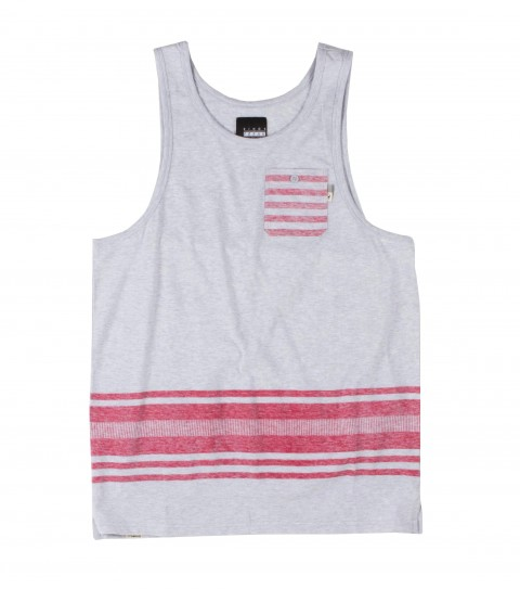Surf O'Neill Fifty Fifty KOF Tank.  100% Cotton jersey. Engineered printed stripe tank. Standard fit with chest pocket and logo labels.  Part of the Kings of Freak series. - $17.99