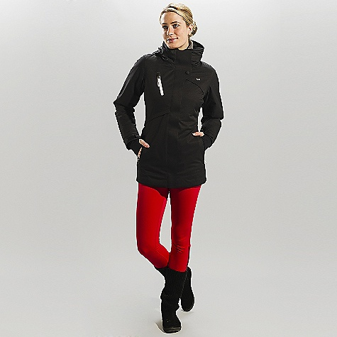 Free Shipping. Lole Women's Gabrielle DECENT FEATURES of the Lole Women's Gabrielle Jacket with center front zip and Velcro closure Stand-up collar Adjustable and stowable hood 2 hand zip pockets 1 zip pocket at chest Velcro adjustable cuffs Hand gaiters Strategically seam sealed Thermaglow Mid insulation Length: 30in. / 77.5 cm - $289.95