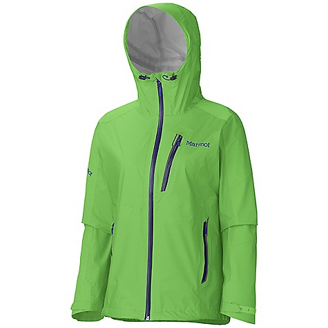 On Sale. Free Shipping. Marmot Women's Speedri Jacket DECENT FEATURES of the Marmot Women's Speedri Jacket Marmot MemBrain FusionDri Highly Breathability Waterproof Fabric 100% Seam Taped 15 Denier Stretch Fabric Attached Adjustable Hood with Reinforced Laminated Wire Brim Chest Pocket with Water-Resistant Zipper Hand Pockets with Water Resistant Zipper Integrated Cooling Vents Asymmetric Cuffs with Velcro Adjustment Elastic Draw Cord Hem Angel-Wing Movement The SPECS Weight: 12.5 oz / 354.4 g Material: MemBrain FusionDri 100% Nylon Ripstop Stretch 3L 2.8 oz/yd Center Back Length: 27in. Fit: Athletic - $287.96