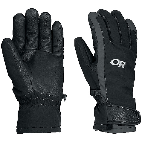Free Shipping. Outdoor Research Men's Extravert Glove DECENT FEATURES of the Outdoor Research Men's Extravert Glove Soft shell stretch fabric construction Wind-resistant, weather-resistant, highly breathable Thermal wool blend lining for warmth and durability Wrap-around leather palm Anatomical curve boxed construction Updated thumb crotch construction for enhanced articulation Elasticized wrist Hook/loop tab gauntlet adjustment The SPECS Target Weight: (L, Per Pair): 6.1 oz / 172 g Target Comfort Range: 10/30deg F / -12/-1deg C This product can only be shipped within the United States. Please don't hate us. - $64.95