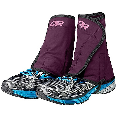 Entertainment Outdoor Research Women's Wrapid Gaiter DECENT FEATURES of the Outdoor Research Women's Wrapid Gaiter Movement-Mirroring Stretch Silicone Anti-Slip Prints at Heel Hook/Loop Front Closure Double Pivoting Boot Hooks Adjustable and Removable Lightweight BioThane Instep Strap The SPECS Weight: (L/XL, per pair): 4.2 oz / 118 g 50% nylon, 43% polyester, 7% spandex double weave This product can only be shipped within the United States. Please don't hate us. - $44.95