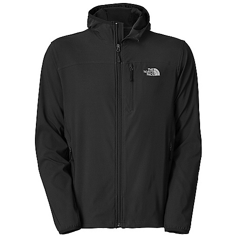 Entertainment Free Shipping. The North Face Men's Nimble Hoodie DECENT FEATURES of The North Face Men's Nimble Hoodie TNF Apex Aerobic fabric, the most stretch out of all Apex fabrics, and wind permeability rated at 10-15 CFM Napoleon chest pocket Two secure-zip hand pockets Elastic-bound cuffs Hem cinch-cord adjustment in pockets Imported The SPECS Average Weight: 16 oz / 450 g Center Back Length: 28in. 90D 246 g/m2 (8.68 oz/yd2) 90% polyester, 10% elastane four-way stretch TNF Apex Aerobic soft shell with DWR This product can only be shipped within the United States. Please don't hate us. - $109.95
