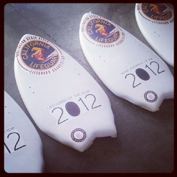 Beauties waiting to be Glassed in honor of @HuntingtonBeach Rookie and Lifeguard of the year!