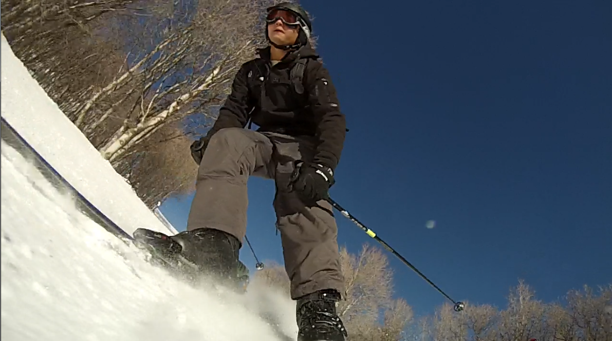 Ski GoPro Hero 3 ski mount at Sundance, UT