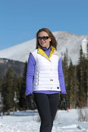 Ski Skea Vest Womens White Goose Down All Season - $99.00