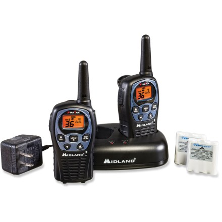Camp and Hike The tough Midland LXT560VP3 2-way radios feature 36 channels of powerful 2-way communication for the great outdoors. - $12.93