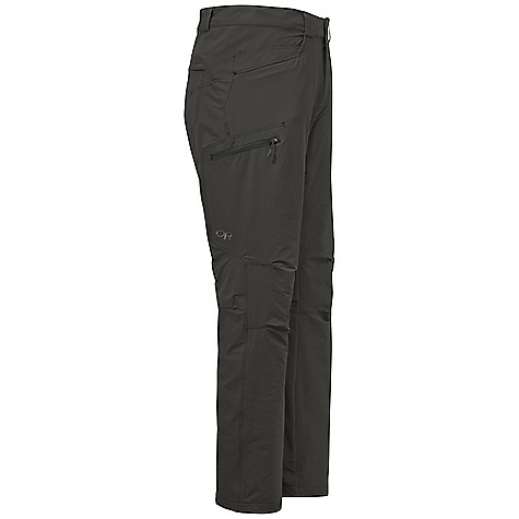 Free Shipping. Outdoor Research Men's Voodoo Pant DECENT FEATURES of the Outdoor Research Men's Voodoo Pant Water Resistant Quick Drying Wind Resistant Breathable Belt Loops Button and Zipper Fly Low-Profile Waist Fits Under Harness Front Jean Pockets Zippered Rear Pocket Zippered Thigh Pocket Articulated Knees Internal Loops for Instep Lace DWR Coated Zipper The SPECS Weight: 12.5 oz / 354 g Trim Fit Inseam: 32in. / 81.3 cm 88% nylon, 12% spandex double-weave This product can only be shipped within the United States. Please don't hate us. - $98.95