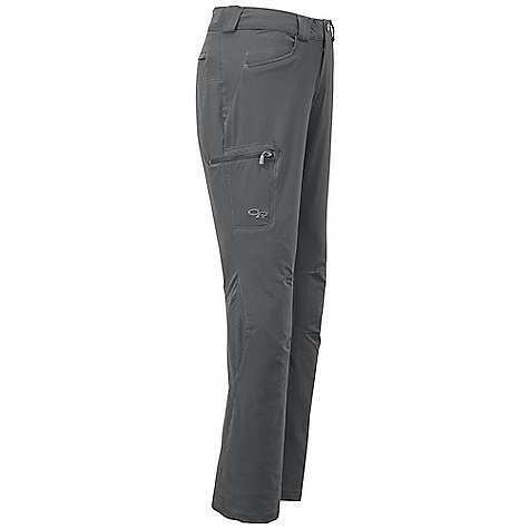 Entertainment Free Shipping. Outdoor Research Women's Voodoo Pant DECENT FEATURES of the Outdoor Research Women's Voodoo Pant Water Resistant Quick Drying Wind Resistant Breathable Belt Loops Button and Zipper Fly Low-Profile Waist Fits Under Harness Front Jean Pockets Zippered Rear Pocket Zippered Thigh Pocket Articulated Knees Internal Loops for Instep Lace DWR Coated Zippers at Pockets The SPECS Weight: 10.9 oz / 310 g Standard Fit Inseam: 32in. / 81.2 cm 88% nylon, 12% spandex double-weave This product can only be shipped within the United States. Please don't hate us. - $98.95