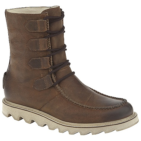 Free Shipping. Sorel Men's Mad Boot Lace Boot DECENT FEATURES of the Sorel Men's Boot Lace Boot Water resistant full-grain upper Removable footbed EVA midsole Molded rubber outsole Shaft Height: 8.75 in / 22.2 cm Weight: 19 oz / 534 g - $189.95