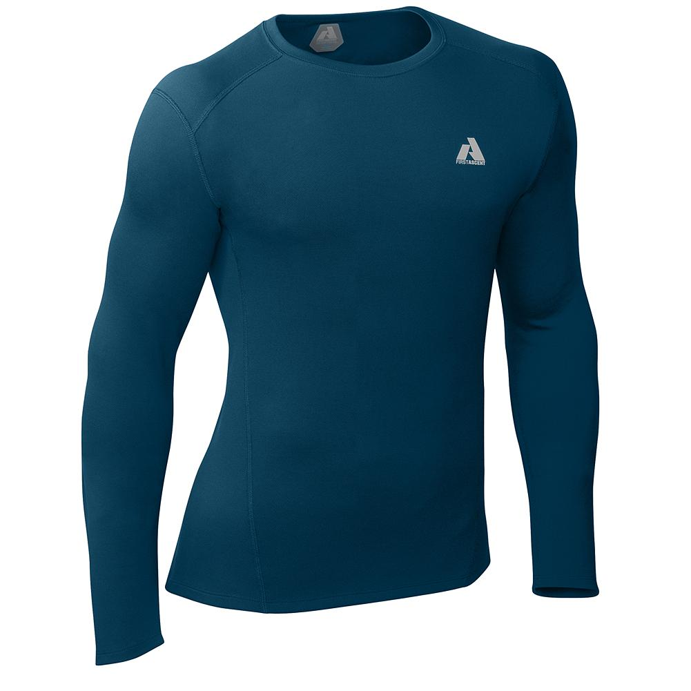 Climbing Eddie Bauer Midweight Crewneck Baselayer - This next-to-skin midweight baselayer features Cocona technology that microscopically increases surface area and harnesses body heat to speed evaporation of perspiration during high-output activities. Said simply: moisture moves faster so you stay dryer. And Cocona never washes or wears out. It's embedded in the fabric. The most versatile of our Cocona weights, trust this midweight layer when skiing, climbing, riding or training in cooler temps. - $29.99