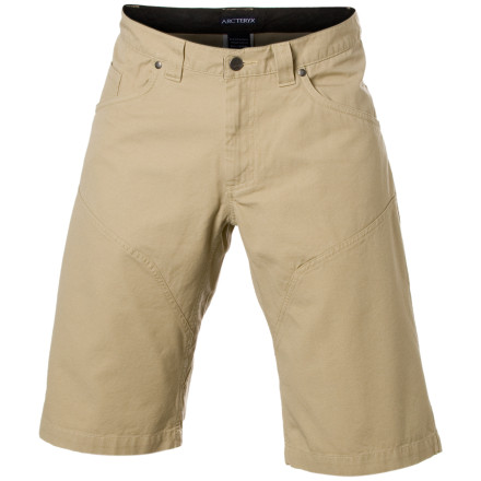 Camp and Hike Durable cotton canvas construction makes the Arc'teryx Men's Spotter Long Shorts tough enough to last seasons of agro approaches and all-day bouldering sessions. Arc'teryx gave the Spotter Long Shorts a knee-length inseam and gusseted crotch to help you move freely whether you're sending on the small stone or roping up for a sport route. - $62.27