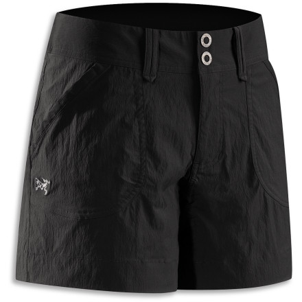 Camp and Hike Focused on motion, the Arc'teryx Women's Parapet Short caters to the climber or hiker who doesn't want to sacrifice durability for low weight. This technical short handles horizontal trails and vertical routes while keeping your comfort in mind. - $39.48