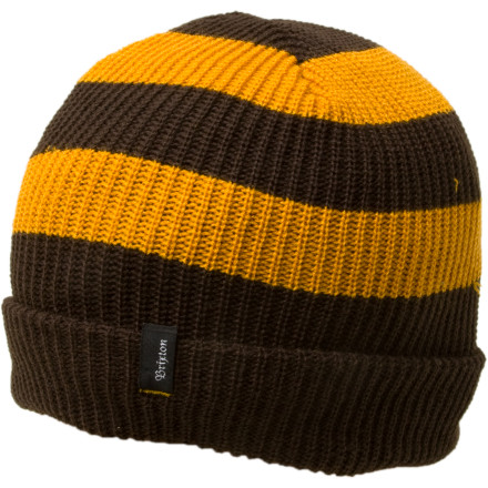 Entertainment When winter comes you wont be riding your bike through sprinklers anymore, so get the Brixton Carby Beanie to stay warm as you commute to work. Dont give up your good bicycling habit when the weather turns cold, just slip on the cozy Carby and keep pedaling. Choose from a variety of striped colors to match your warm, but retro, winter coat. - $9.98