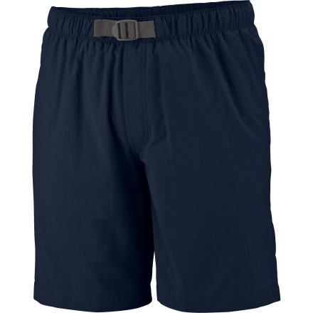 Kayak and Canoe Lightweight textured nylon poplin gives the Columbia Men's Whidbey II Water Short quick-dry convenience so you're not paddling down the river in soggy shorts. The Whidbey II also offers UPF 50-rated sun protection when you're sitting in the cockpit of a kayak and includes an interior mesh brief and a zip-closed back pocket to keep your valuables safe. - $24.95