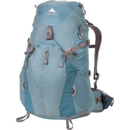 Camp and Hike The Gregory Womens Jade 30 Backpack provides versatility and comfort for lightweight overnights or long day trips. The front bucket pocket expands to fit extra layers and food, and cinches down when you need a more streamlined pack. - $103.96
