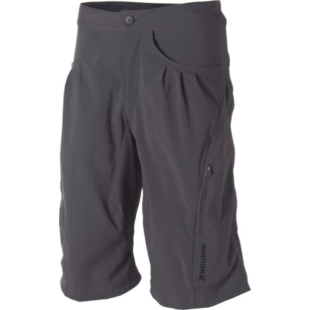 Camp and Hike Your hiking partner better hustle up or risk losing sight of you and the Houdini Women's Liquid Gear Shorts. Moisture-wicking, quick-drying, and breathable fabric keeps you cool and comfortable so you rarely have to take a break. Gusseted inseams provide plenty of movement when scaling a boulder or hiking up steep terrain. Back and side pockets allow you to stash your keys or energy goo, and an integrated stow pocket compacts this versatile short when in transit. - $64.97