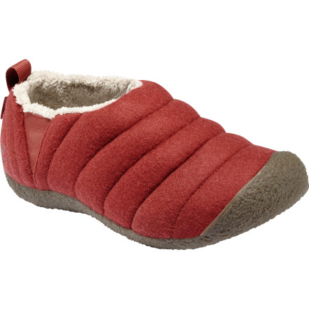 KEEN doesn't mess around when it comes to keeping your feet comfortable, and the Howser Wool Slippers surround your feet with luxury. Microfleece linings and KEEN.CUSH footbeds with memory foam are like well-appointed beds for your feet. Plus, the natural rubber soles and water-resistant uppers mean you can wear these outside if you need to go on a newspaper-retrieving mission. - $25.98