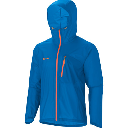 Camp and Hike The essence of backpacking is getting out into the elements. When those elements turn cool and wet, grab the Marmot Essence Jacket from your pack and charge on. Marmot made this minimalist jacket with waterproof breathable MemBrain Strata fabric to prevent rain from soaking your base layers. Its fully taped seams keep water and melting snow from dripping down the fabric and sneaking in through the joints, and its highly water-resistant front zippers keep the jacket sealed tight. Weighing in at just six ounces, this simple, compressible rain shell won't force you to attempt complicated mathematical equations in order to figure out a way to fit it in your pack. - $92.48