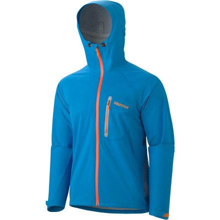 Even though it's hard to calm down when you hear its name, the Marmot Hyper Jacket is ready to lighten your pack load when the weather is clear and keep you dry when the storms roll in. This lightweight, convenient shell comes with a waterproof breathable Strata membrane that blocks out stormy weather on the trail. - $99.98