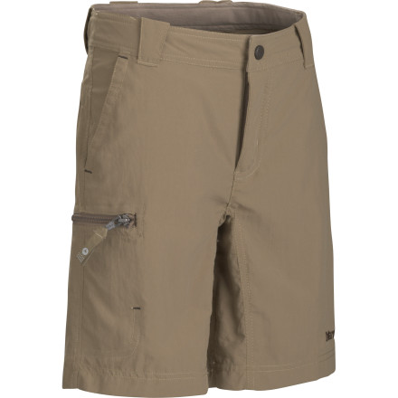 If you outfit your son with the Marmot Boys' Cruz Short, then you can ignore the fact that he has no desire to wash them in between summer days of disappearing into the woods and wandering around local rivers. Thanks to the lightweight yet durable nylon, DWR coating, and UV protection, the Cruz can handle a little moisture from a summer shower or backyard sprinkler and keep your adventurer protected all summer. - $17.48