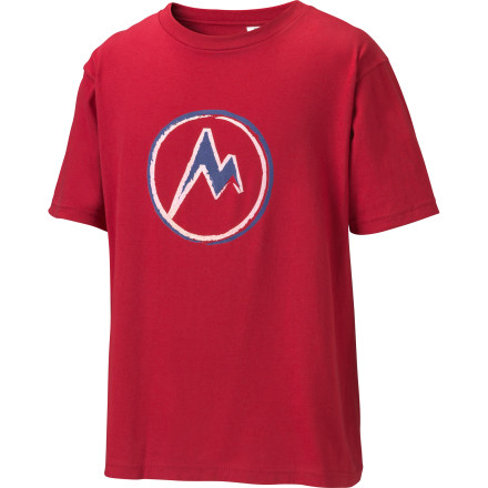 If your son has a passion for the outdoors like you do, then he'll be proud to sport the organic cotton Marmot Boys' Mdot T-Shirt. - $8.98