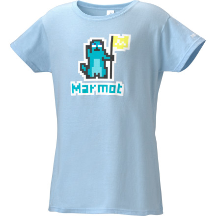You don't go for all those realistic shooter video games, but you totally dominate your brothers on the old-fashioned arcade versions. Rub it in their faces when you wear the Marmot Girls' 8-Bit Short Sleeve T-Shirt. You get to enjoy nice soft organic cotton as well as annoying the heck out of them. - $8.98