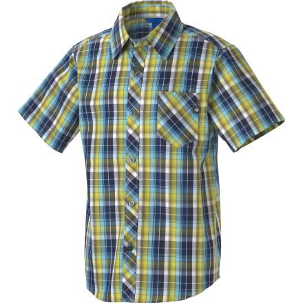 Camp and Hike The plaid print of the Marmot Boys' Stockton Shirt makes it a necessity for any young man, but the soft, organic cotton is what makes it feel so good. Sure it's not the typical lumberjack-style plaid shirt, but the short-sleeve Stockton is a heckuva lot more versatile for your hiking, rock-climbing, skateboarding, skiing, and bike-riding young man. - $18.98