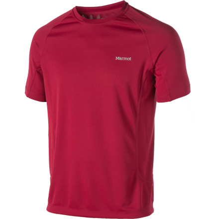 Marmot engineers kept the Men's Mesita Shirt lightweight enough for blazing hot days and gave it a close cut that still offers all the mobility and comfort you need for long runs on the trail. So instead of sprinting down the homestretch with a heavy, sweat-soaked, uncomfortable cotton tee, you'll be breezing down with your Mesita. - $19.98