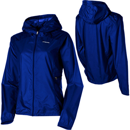 Ski Pull on the Patagonia Womens Houdini Full-Zip Softshell Jacket when storm clouds loom and then make all of its scant 4oz disappear into its own pocket when the skies clear. Burlyyet breathable15D nylon ripstop fabric with a Deluge DWR treatment protects you from the elements. This superlight Patagonia softshell wont weight you down as you climb your favorite route or hike a new trail with Rover. Patagonia redesigned the hood for greater field-of-vision, lower volume, and single-pull adjustment. - $47.75