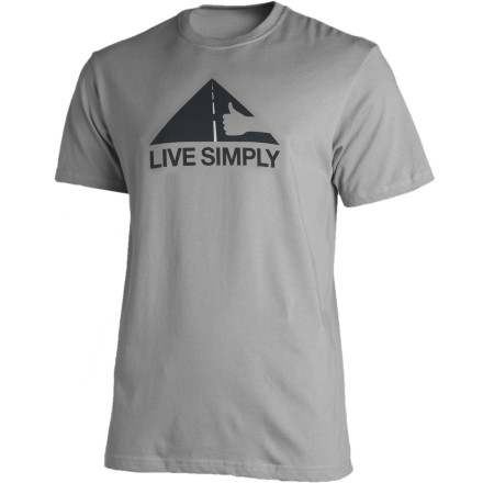 You don't need a giant set of thumbs to become the world's best hitchhiker; all you need is a sense of adventure in your soul, a desire to embrace voluntary simplicity, and the Patagonia Live Simply Thumbs Up T-Shirt to guide your way. - $24.50